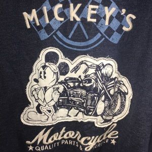 Disney Motorcycle Mickey Zippered Hoodie